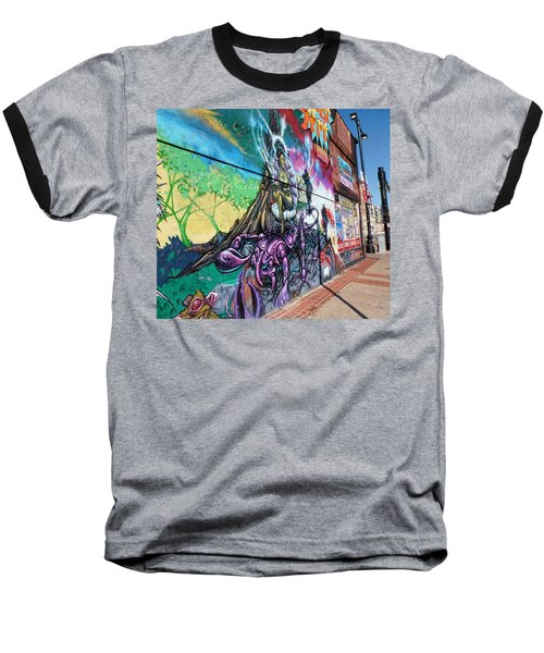 Baseball T-Shirt featuring the photograph Salt Lake City - Mural 3 by Ely Arsha
