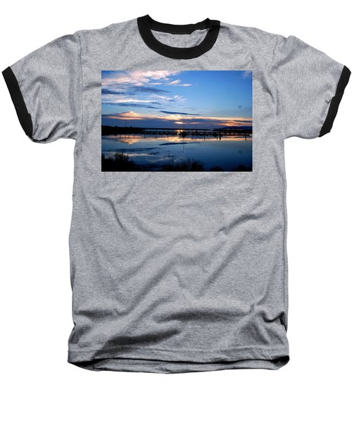 Baseball T-Shirt featuring the photograph Salt Lake Marina Sunset by Matt Harang
