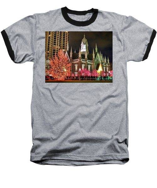 Baseball T-Shirt featuring the photograph Salt Lake Temple - 3 by Ely Arsha