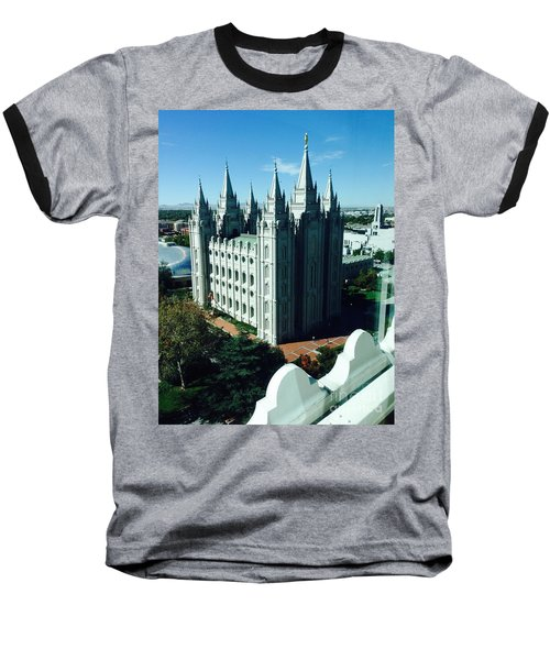 Baseball T-Shirt featuring the photograph Salt Lake Temple The Church Of Jesus Christ Of Latter-day Saints The Mormons by Richard W Linford