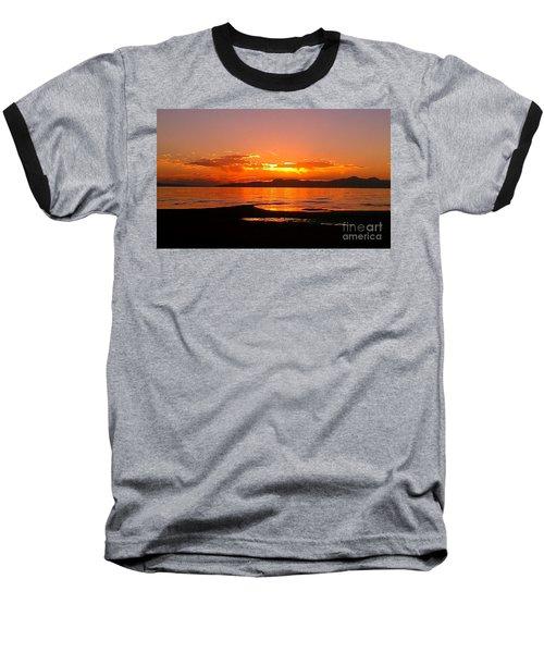 Salt Lakes A Fire Baseball T-Shirt by Chris Tarpening