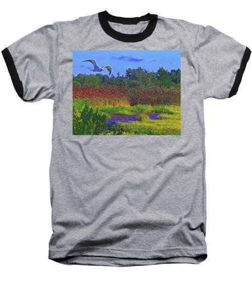 Salt Marsh Gull Baseball T-Shirt