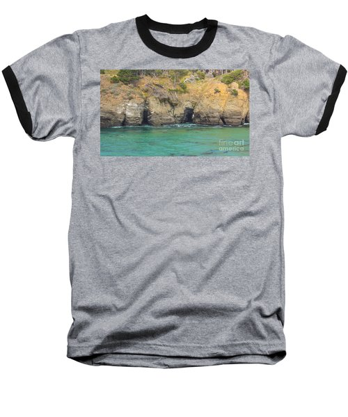 Salt Point Sea Caves Baseball T-Shirt