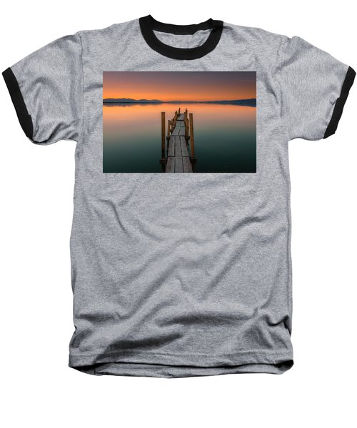 Salton Sea Dock Baseball T-Shirt by Ralph Vazquez