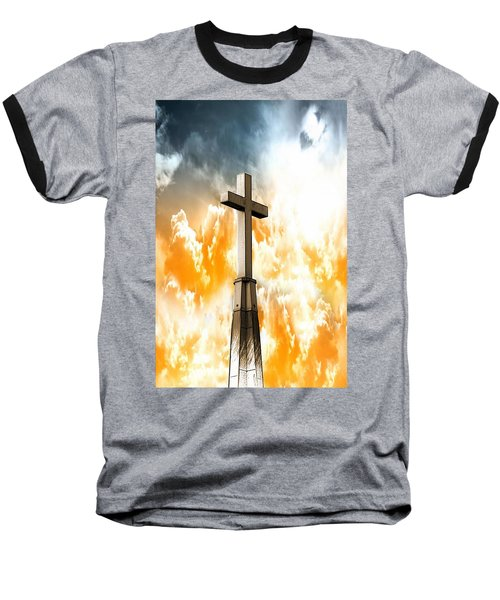 Salvation From Heaven Baseball T-Shirt by Aaron Berg