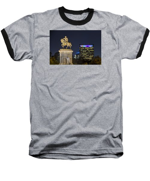 Sam Houston At Night Baseball T-Shirt by Tim Stanley