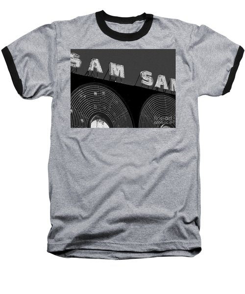 Sam The Record Man At Night Baseball T-Shirt by Nina Silver