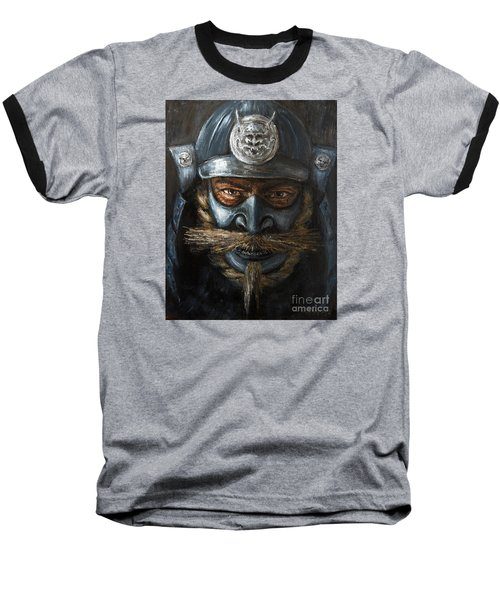 Baseball T-Shirt featuring the painting Samurai by Arturas Slapsys