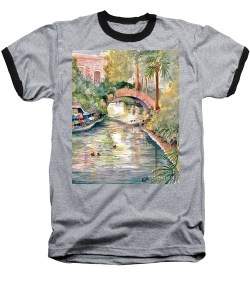 San Antonio Riverwalk Baseball T-Shirt