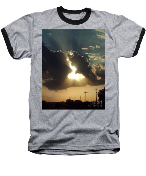 Baseball T-Shirt featuring the photograph San Antonio Sunset by Peter Piatt