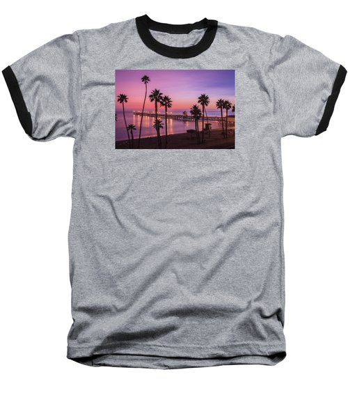 San Clemente Sunset Meditation Baseball T-Shirt
