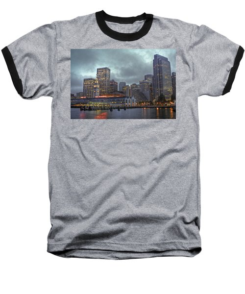 San Francisco Port All Lit Up Baseball T-Shirt