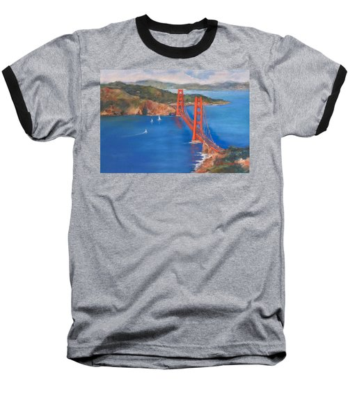 San Francisco Bay Bridge Baseball T-Shirt