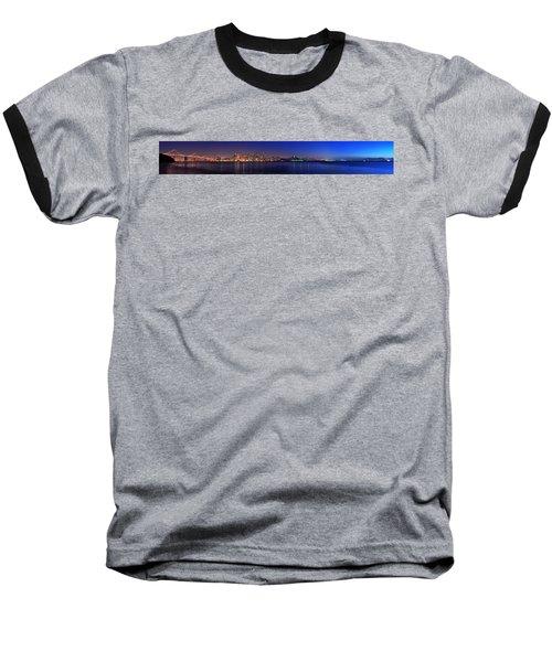 San Francisco Dusk Panorama Baseball T-Shirt