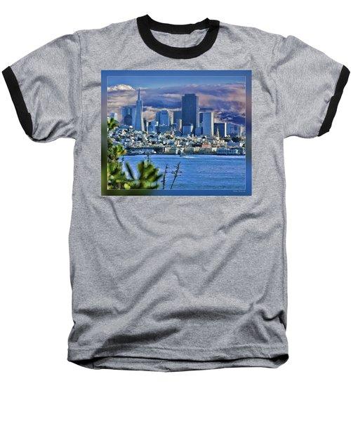 San Francisco From Alcatraz Baseball T-Shirt