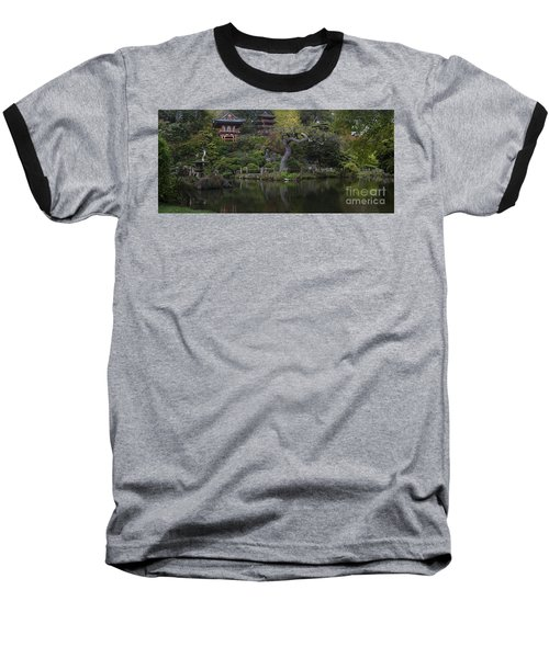 San Francisco Japanese Garden Baseball T-Shirt by Mike Reid