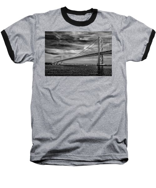 San Francisco - Oakland Bay Bridge Baseball T-Shirt