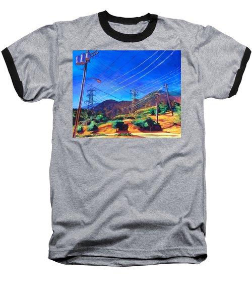 San Gabriel Power Baseball T-Shirt by Bonnie Lambert