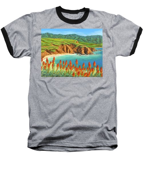 Baseball T-Shirt featuring the painting San Mateo Springtime by Jane Girardot