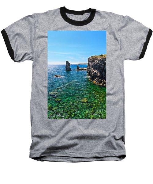 San Pietro Island - Le Colonne Baseball T-Shirt by Antonio Scarpi