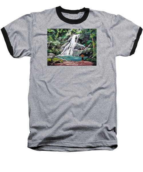 San Sebastian Waterfall Baseball T-Shirt by Luis F Rodriguez