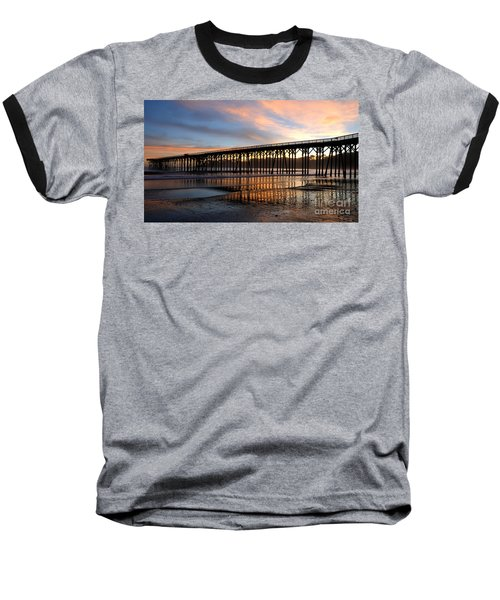 San Simeon Pier Baseball T-Shirt by Vivian Christopher