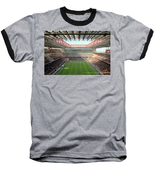 San Siro Stadium Baseball T-Shirt