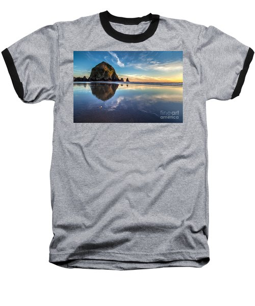 Sand Dollar Sunset Repose Baseball T-Shirt by Mike Reid