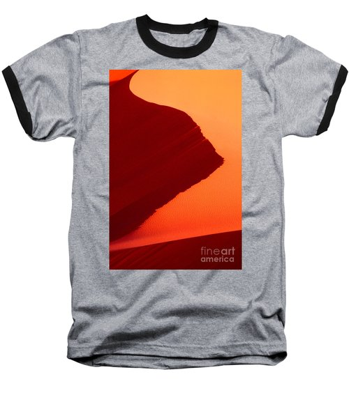 Baseball T-Shirt featuring the photograph Sand Dune Curves Coral Pink Sand Dunes Arizona by Dave Welling