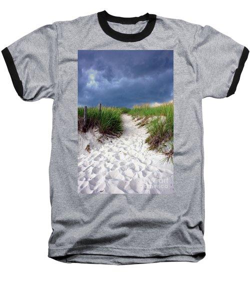Sand Dune Under Storm Baseball T-Shirt