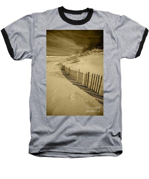 Sand Dunes And Fence Baseball T-Shirt