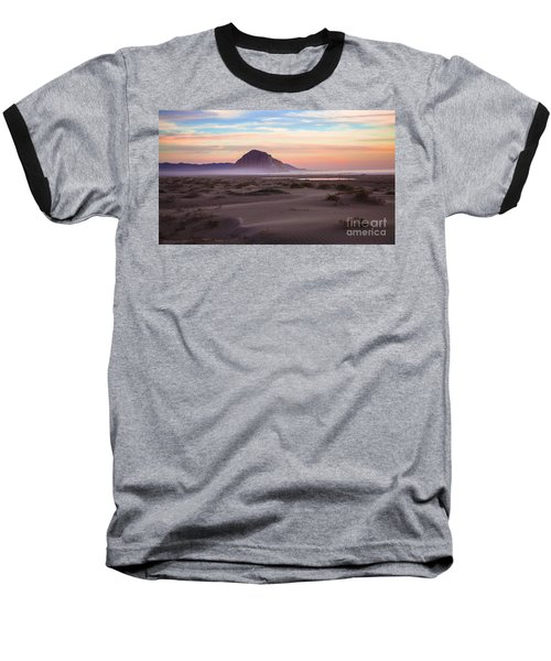 Sand Dunes At Sunset At Morro Bay Beach Shoreline  Baseball T-Shirt