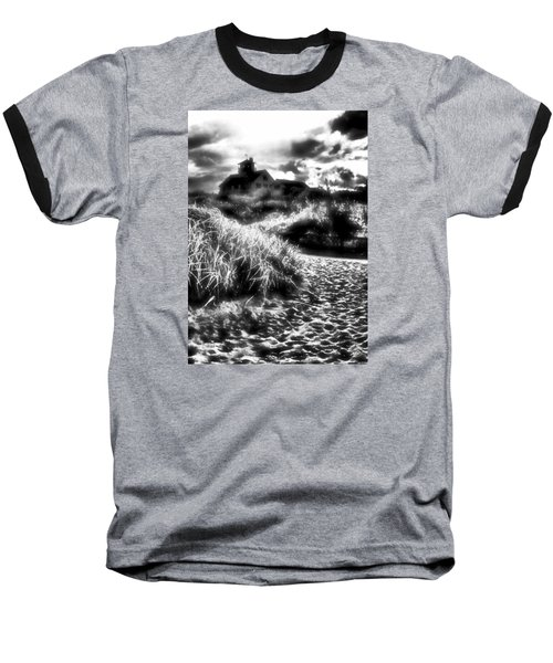 Baseball T-Shirt featuring the photograph Sand In Ma Shoes by Robert McCubbin