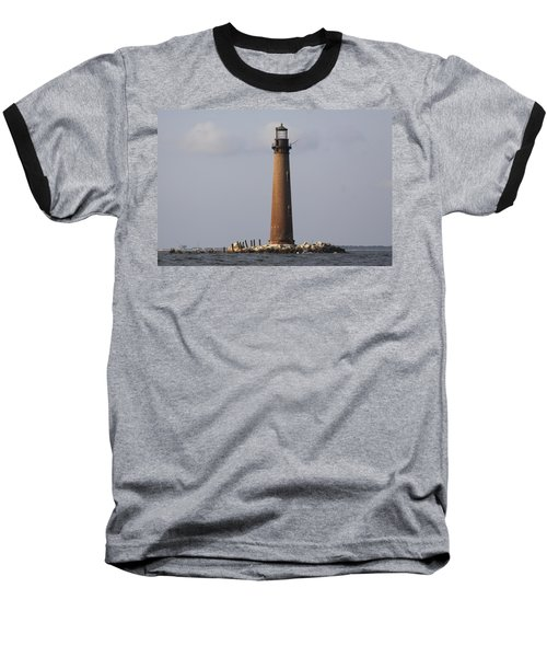 Sand Island Lighthouse - Once 40 Acres Baseball T-Shirt by Travis Truelove