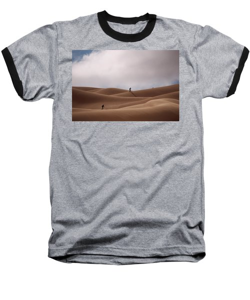Sand Skiing Baseball T-Shirt