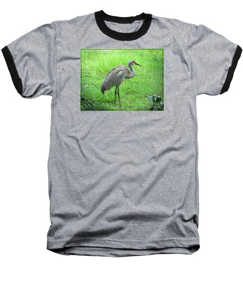 Baseball T-Shirt featuring the photograph Sandhill Crane - Bird Photography by Ella Kaye Dickey