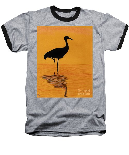 Sandhill - Crane - Sunset Baseball T-Shirt