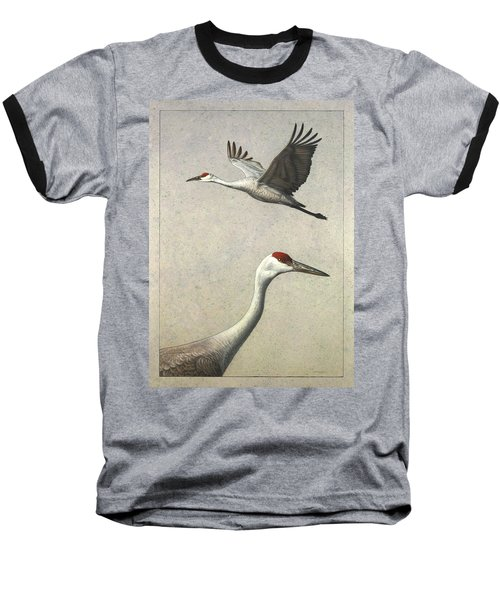 Sandhill Cranes Baseball T-Shirt by James W Johnson