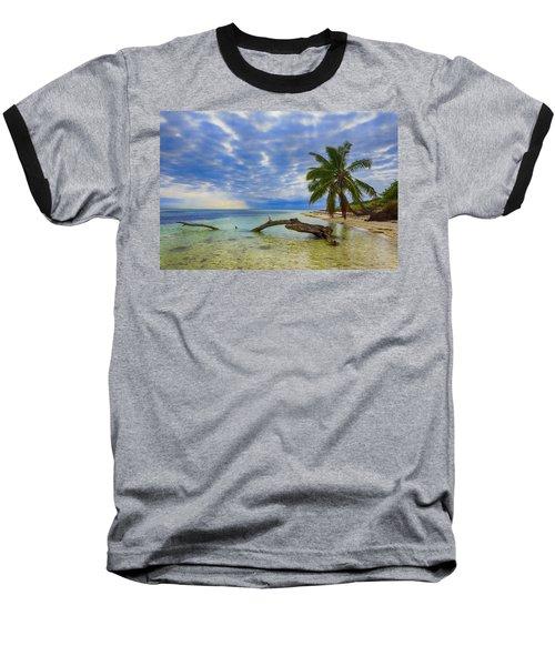 Sandspur Beach Baseball T-Shirt by Swank Photography