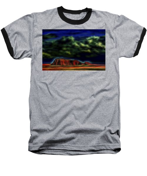 Baseball T-Shirt featuring the digital art Sandstone Monolith 1 by William Horden