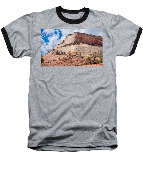 Baseball T-Shirt featuring the photograph Sandstone Mountain by John M Bailey