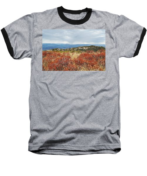 Sandstone Peak Fall Landscape Baseball T-Shirt by Kyle Hanson
