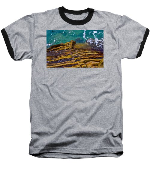 Baseball T-Shirt featuring the photograph Sandstone Ribs by Adria Trail