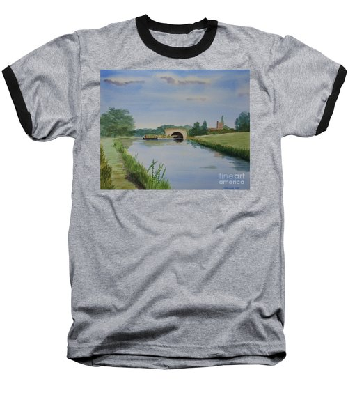 Baseball T-Shirt featuring the painting Sandy Bridge by Martin Howard