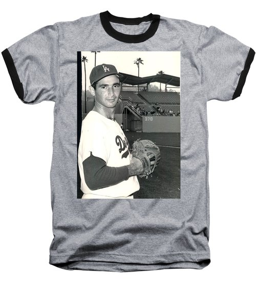 Sandy Koufax Photo Portrait Baseball T-Shirt