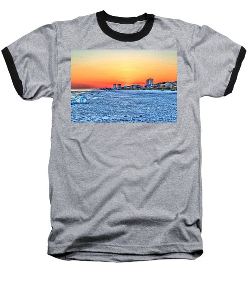 Sandy Sunset Baseball T-Shirt