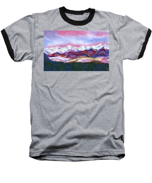 Baseball T-Shirt featuring the painting Sangre De Cristo Mountains by Stephen Anderson
