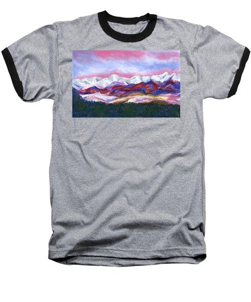 Sangre De Cristo Mountains Baseball T-Shirt by Stephen Anderson