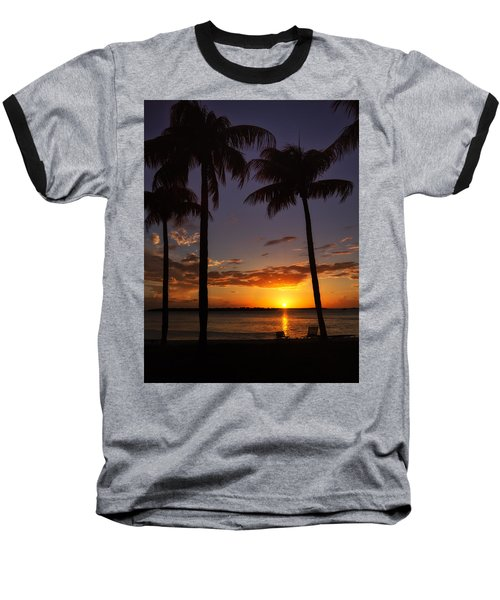 Sanibel Island Sunset Baseball T-Shirt