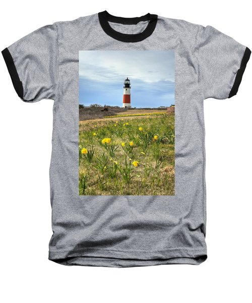 Sankaty Lighthouse Nantucket Baseball T-Shirt